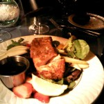 To-die-for cajun salmon and fruitful salad (in November!!)